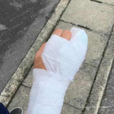 息子1号が名誉の負傷!!右手小指を骨折しました泣